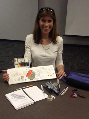 Jenny Keller and her sketchbook