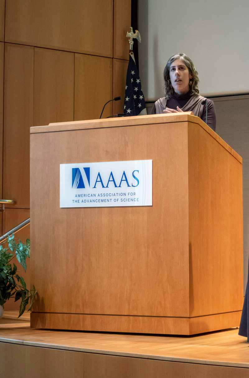 Diana Marques at the AAAS colloquium