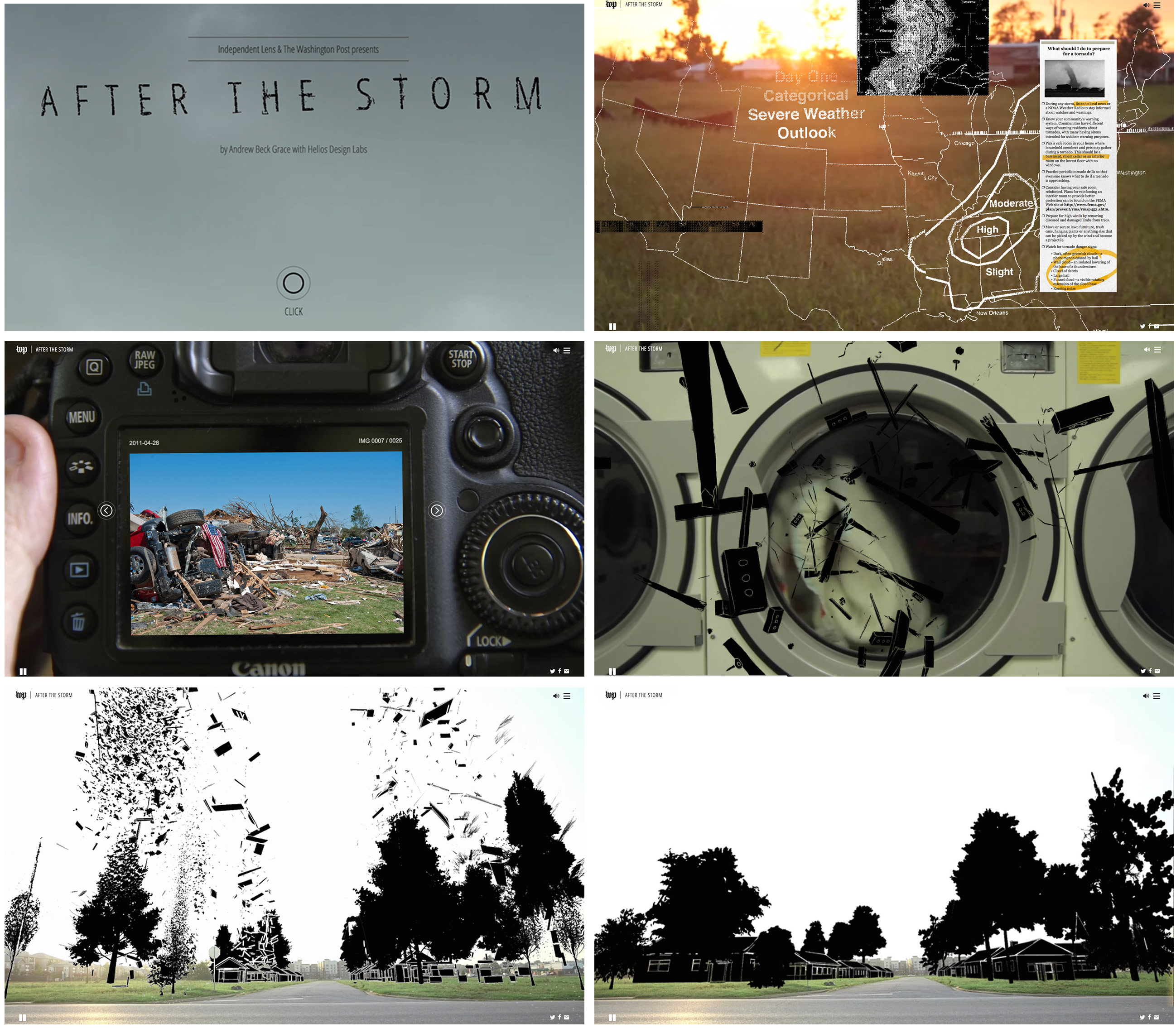 pages from After the Storm. Written, directed and photographed by Andrew Beck Grace, Interactive Design Helios Design Labs, presented by ITVS/Independent Lens. Courtesy of Helios Design Labs. www.washingtonpost.com/posttv/afterthestorm/index.html#/dear-future-disa...