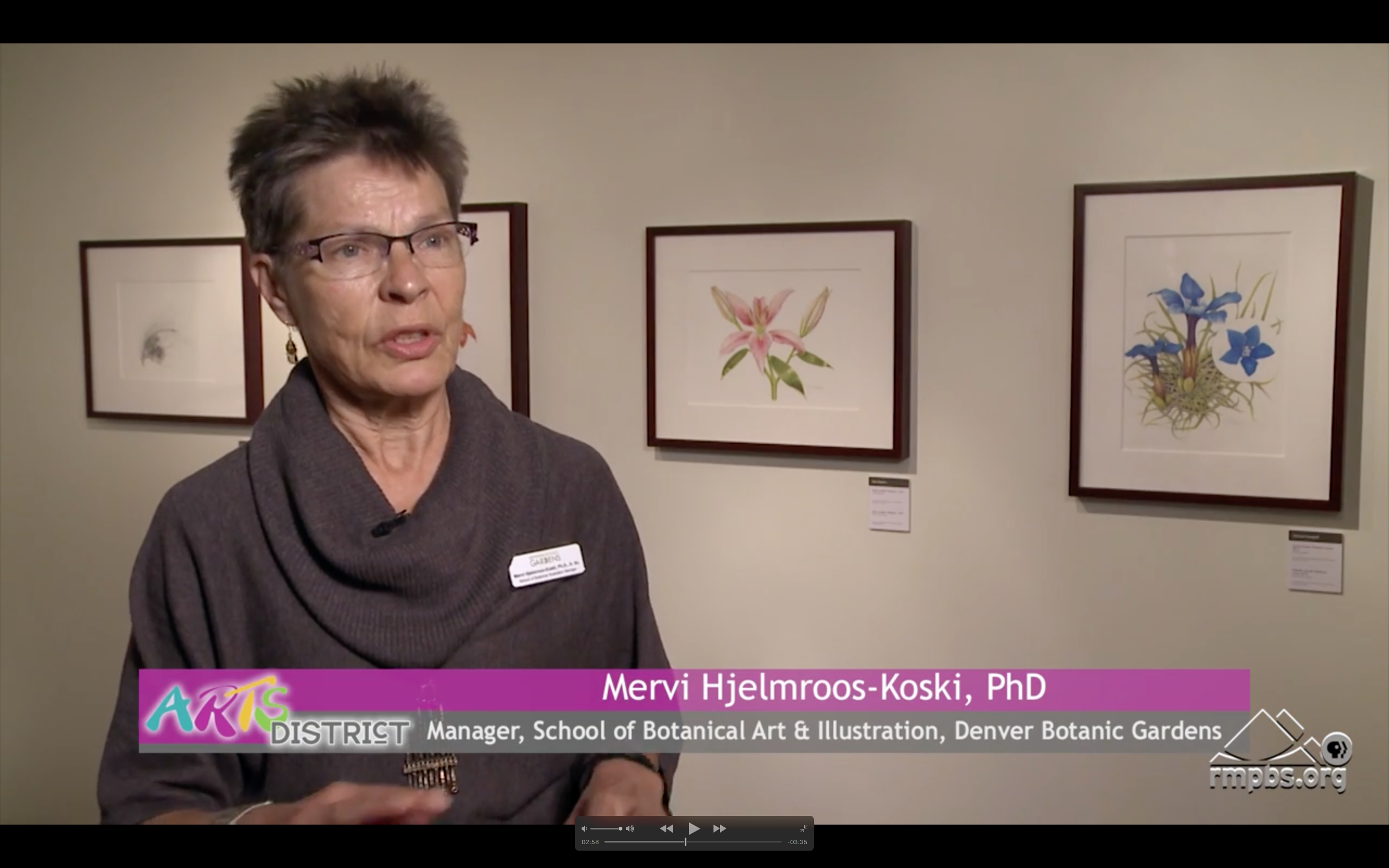 Mervi Hjelmroos-Koski, director of the School of Botanical Art and Illustration