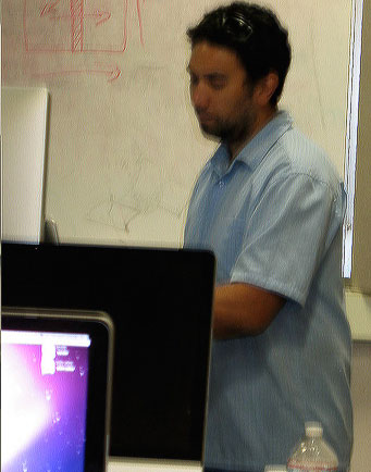 Amadeo Bachar, the digital media instructor