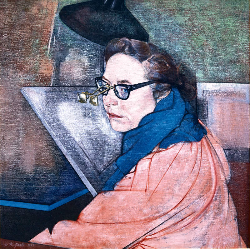 Portrait of Carolyn Gast, painted by her husband, Michael Gast in 1984. Photo by Michael Nicholson.