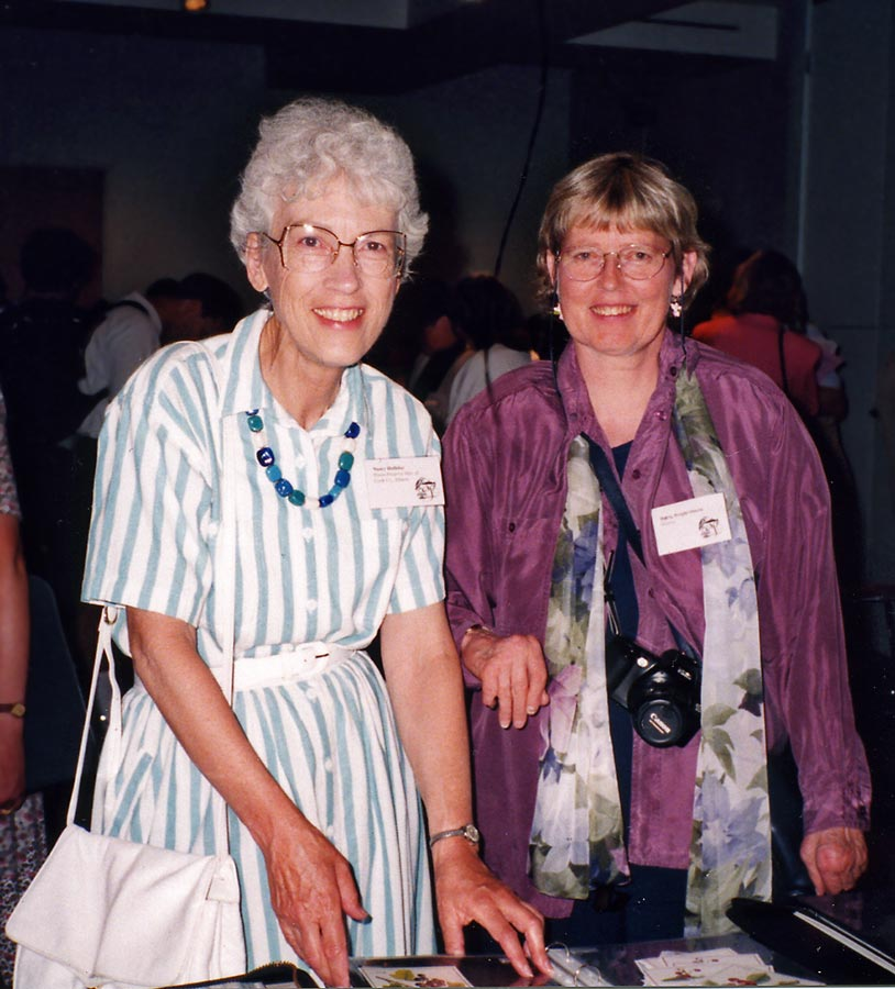 Nancy Halliday with Hedvig Østern, GNSI conference, Washington DC, 1996.
