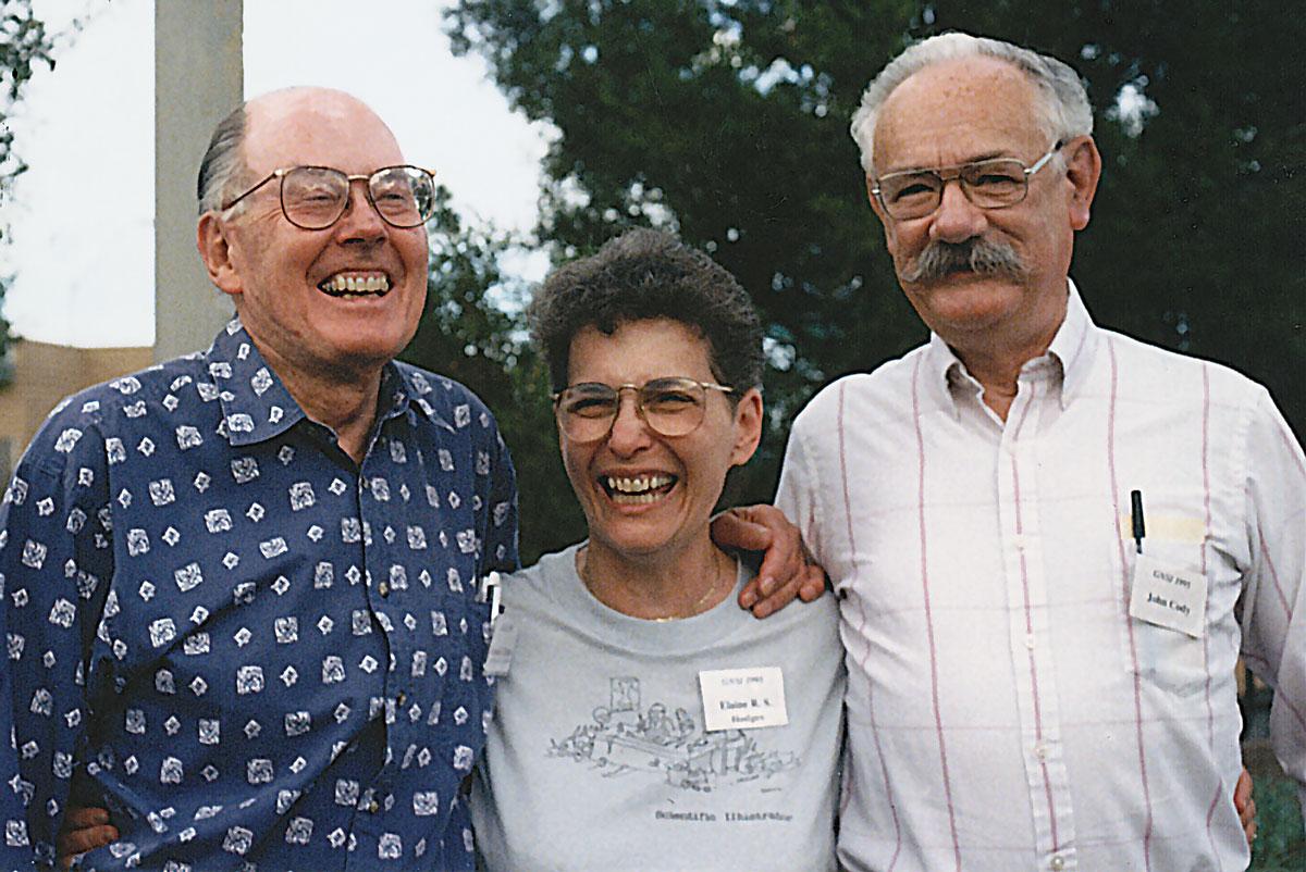 Gerald Hodge, Elaine Hodges and John Cody