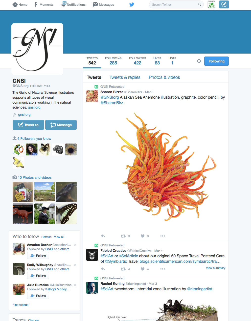 GNSI Twitter interface