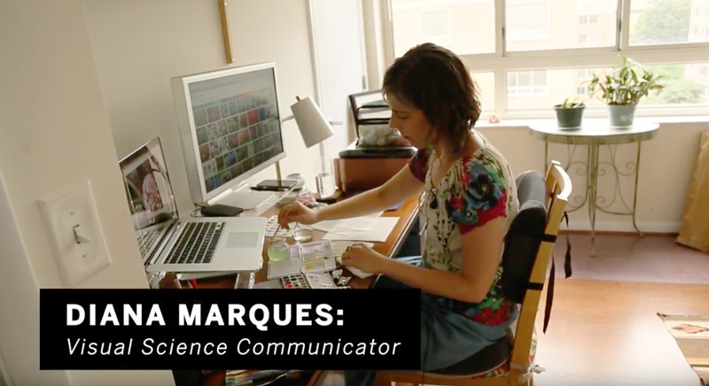 Diana Marques is featured in AAAS video about visual science communication